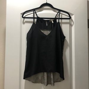 Black cami with lace back